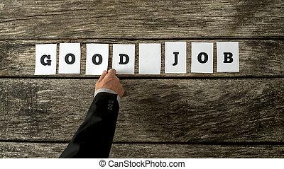 それら, よい, 手紙, ビジネス, 木製である, 無作法, 仕事, 集まっていること, 背景, カード, 句, 白, リーダー