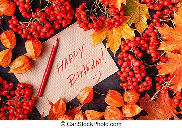それ, ラベル, 秋, birthday, 言葉, 幸せ