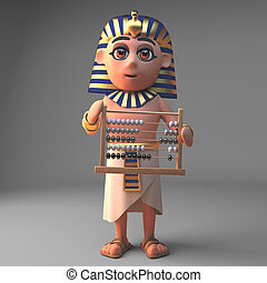 そろばん, ファラオ, 漫画, tutankhamun, イラスト, 特徴, 3d, 保有物