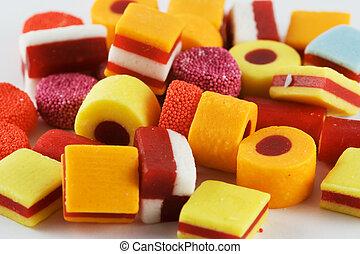 たくさんのキャンデー