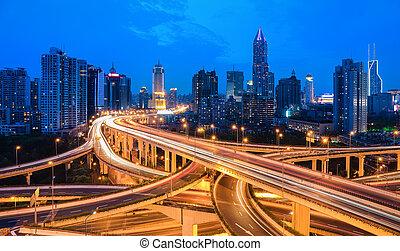たそがれ, 跨線橋, 交換, 都市
