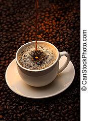たたきつけるコーヒーノキ