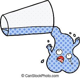 たたきつける水, 漫画