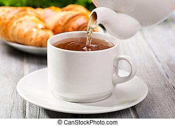 たたきつける, お茶