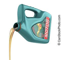 たたきつける, エンジン油, から, ∥そ∥, プラスチック, container., モーター油