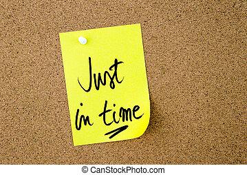 ただ, 黄色のノート, 書かれた, ペーパー, 時間