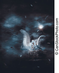 ただ1つだけである, 天使, 暗やみに