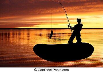 つかまえること, パイク, 漁師