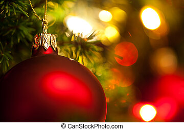つけられる, スペース, 木, 装飾, 背景, コピー, クリスマス