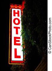 つけられる, ホテル, 印