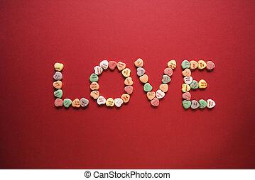 つづり, love., キャンデー, から