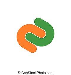 つながれる, 抽象的, 2, c, 幾何学的, ロゴ