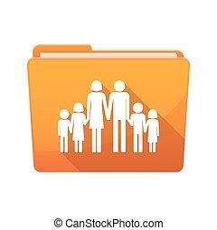 つなぎ, 家族, 長い間, pictogram, 影, 大きい
