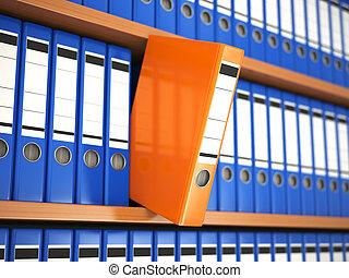 つなぎ, archive., shelf., ファイル, オフィス