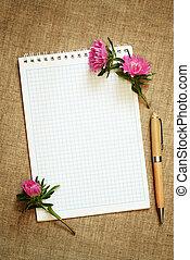 つぼみ, アスター, 花, メモ用紙