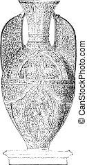 つぼ, engraving., 型, alhambra