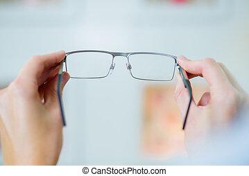 つらい, メガネ屋, ガラス