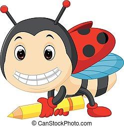 てんとう虫, 漫画, 保有物, 鉛筆