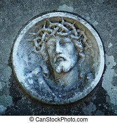 とげ, 顔, 王冠, キリスト, イエス・キリスト