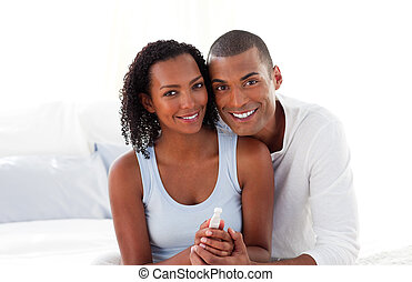 とても, 恋人, 見つけること, から, 結果, の, a, 妊娠識別テスト