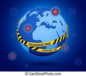 とどまること, 発生, self-quarantine, coronavirus., ウイルス, を除けば, 保護しなさい, coronavirus, covid-19, 助け, 遅い, 惑星, 家, spread.