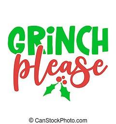 どうか, カリグラフィー, grinch, 句, -, クリスマス