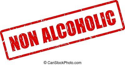 ∥ない∥, アルコール中毒患者, 赤, 切手