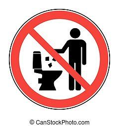 ない, トイレ, がらくた, 2, アイコン