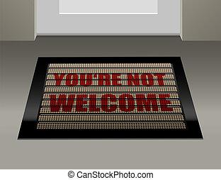 ない, ドアマット, 歓迎
