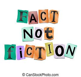 ない, 事実, fiction.