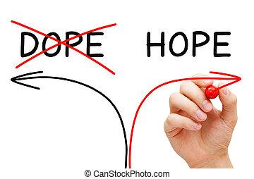 ない, 概念, ドープ塗料, 希望, 矢, リハビリテーション