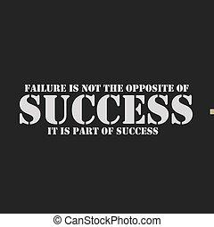 ない, success., 反対, それ, 失敗, 部分