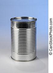なしで, 金属の缶, ラベル