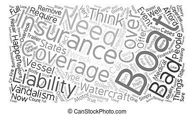 なぜ, あなた, 必要性, ボート, 保険, 単語, 雲, 概念, テキスト, 背景