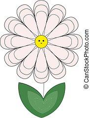におい, 花, illustration., 色, ベクトル, ∥あるいは∥
