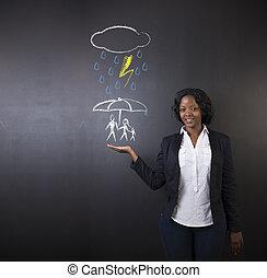 について, 女, 自然災害, 家族, 学生, 考え, 黒板, 教師, アメリカ人, 背景, アフリカ, 保護, ∥あるいは∥, 南
