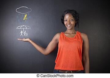 について, 女, 自然災害, 家族, 考え, 教師, アメリカ人, 学生, アフリカ, 保護, ∥あるいは∥, 南