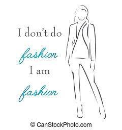 について, 女, gown-, 引用, 動機づけである, 活版印刷, 優雅である, インスピレーションを与える, fashion-