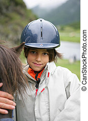 について, 男の子, わずかしか, 馬の乗車