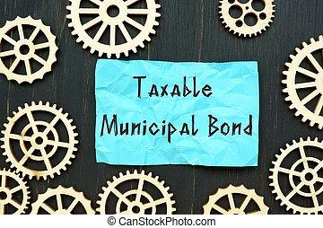 について, page., ビジネス 概念, 債券, taxable, 市の, 碑文