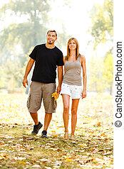 によって, 歩くこと, 公園, 恋人, 幸せ