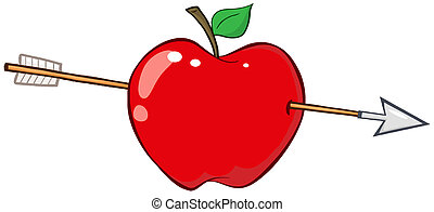 によって, 矢, 赤いリンゴ