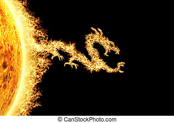 ∥に向かって∥, 火, 太陽, ドラゴン, 権利, ヘッディング