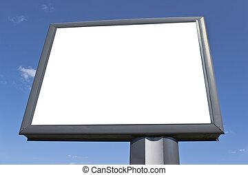 に対して, 青い空, 広告板, ブランク