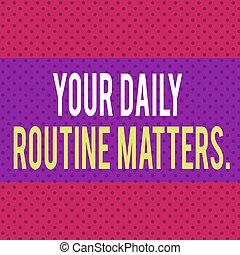 に対して, matters., 赤, ポルカ, 無限, 概念, 生きている, ルーチン, 習慣, ビジネス, 健康, バックグラウンド。, seamless, 無限, 執筆, よい, 点, テキスト, あなたの, 日常生活, パターン, 単語, 固体, 持ちなさい