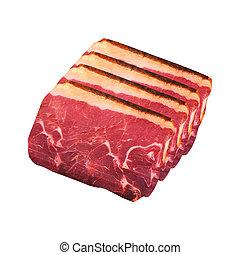 に薄く切る, 肉, パストラーミ