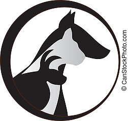 ねこ, 犬, ロゴ, うさぎ