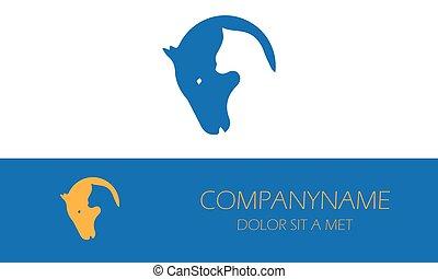 ねこ, 馬, logo-01