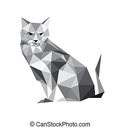 ねこ, origami, イラスト