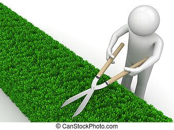 ねじれて切れる, 庭, 自然, -, コレクション, 庭師
